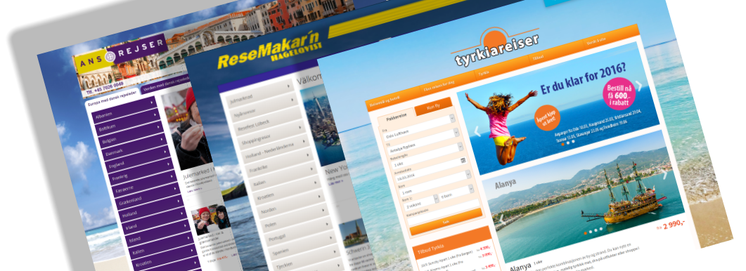 Web based travel technology for booking, content- and sales management